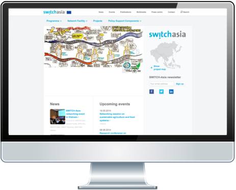 TYPO 3 Webdesign bei SWITCH asia